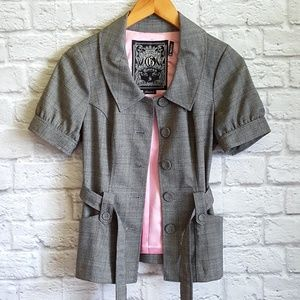 NWOT Guess Short Sleeve Gray Blazer